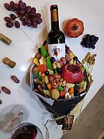 Съедобный букет с вином