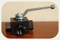 Кран блочный 3-ходовой DN20 G3/4 PN500
