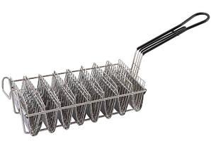 Корзина для жарки Тако, 8 ячеек по 15 см нержавеющая сталь, ручка просиликоненная
