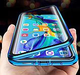 Магнитный металлический чехол FULL GLASS 360° для Huawei P40 Lite /, фото 4