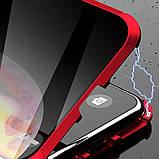 Магнитный металлический чехол FULL GLASS 360° для Huawei P40 Lite /, фото 9