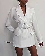 """Пиджак женский классический удлиненный, размеры 42-46 (3цв) """"MIXMI"""" купить недорого от прямого поставщика"""