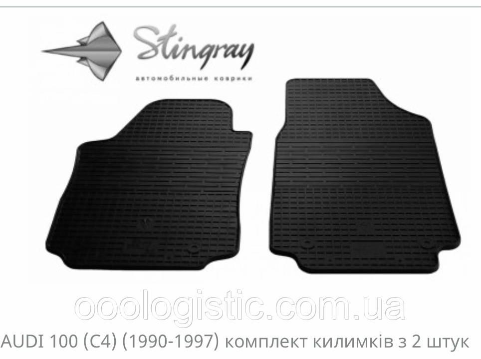 Автковрики на Ауди 100(С4)1990-1997/Audi A6(C4) Stingray резиновые 2 штуки