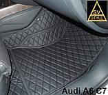 Коврики Ауди Audi A6 С7 Кожаные 3D (2010-2017) оригинальные, фото 6