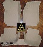 Коврики Ауди Audi A6 С7 Кожаные 3D (2010-2017) оригинальные, фото 4