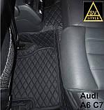 Коврики Ауди Audi A6 С7 Кожаные 3D (2010-2017) оригинальные, фото 7