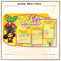 Стенды для музыкального зала и музыкального руководителя детского сада.2