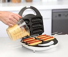 Сосисочница, вафельница ( аппарат для корн догов) на 6 сосисок Domotec KB-888 Аппарат для хот догов домашний