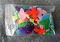 Фетровые заготовки-бабочки 2,5 см 79 шт