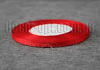 Лента репсовая красная 0,6 см 25 ярд арт.26