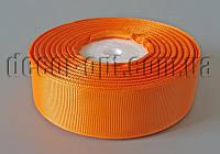 Лента репсовая оттенок оранжевого 2,5 см 25 ярд арт.024