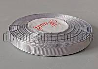 Лента репсовая оттенок серого 0,9см/25ярд арт.59
