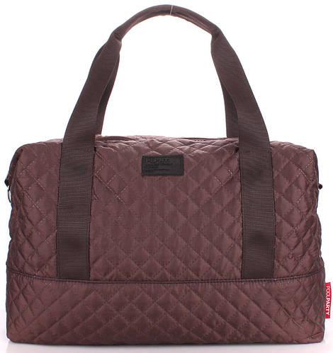 Стеганая женская сумка POOLPARTY Swag swag-brown коричневая
