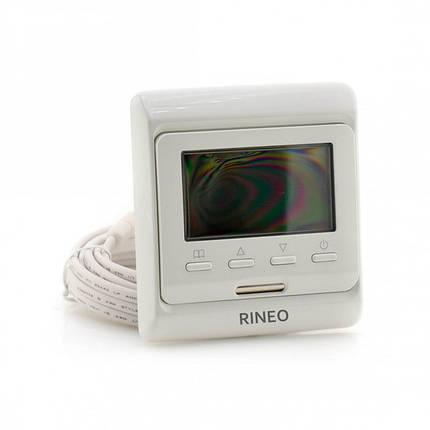 Программируемый терморегулятор Rineo M6 с датчиком пола и воздуха (RHF00057), фото 2
