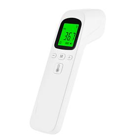 Инфракрасный бесконтактный термометр Phicon для тела и предметов быта на батарейках Белый