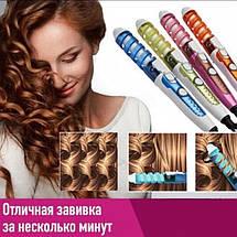 Плойка спиральная для волос NOVA NHC-5311 Фиолетовая, фото 2