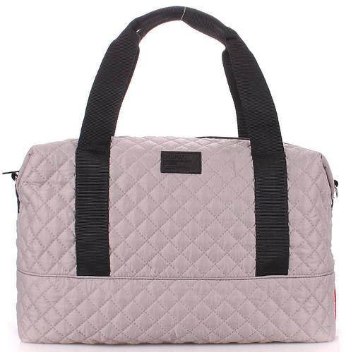 Повседневная стеганая женская сумка POOLPARTY Swag swag-grey серая