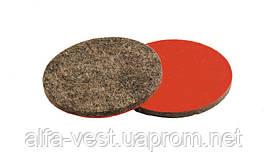 Круг войлочный на липучке жесткий влагостойкий 30 мм (грубошерстный) MASTERTOOL 08-6603