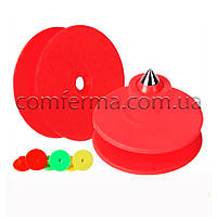 Вушна бирка (кліпса) кругла 30 мм червона (БРК-17)