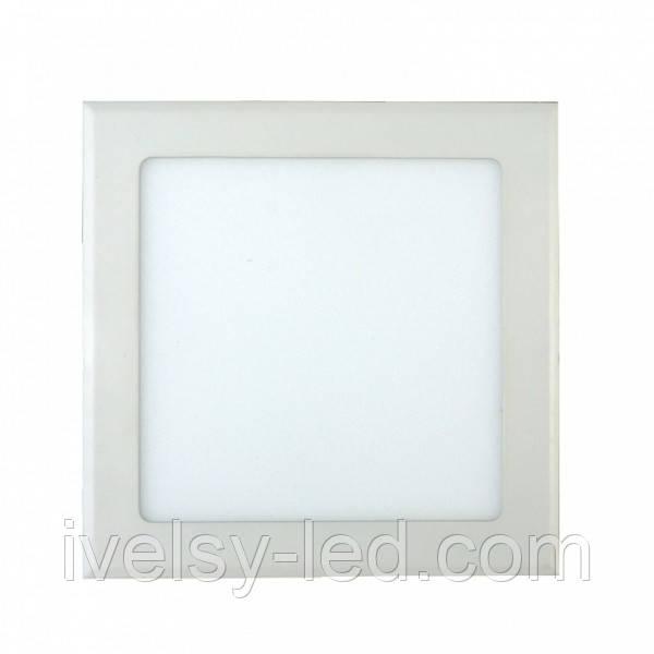 Светильник светодиодный квадратный накладной 225*225