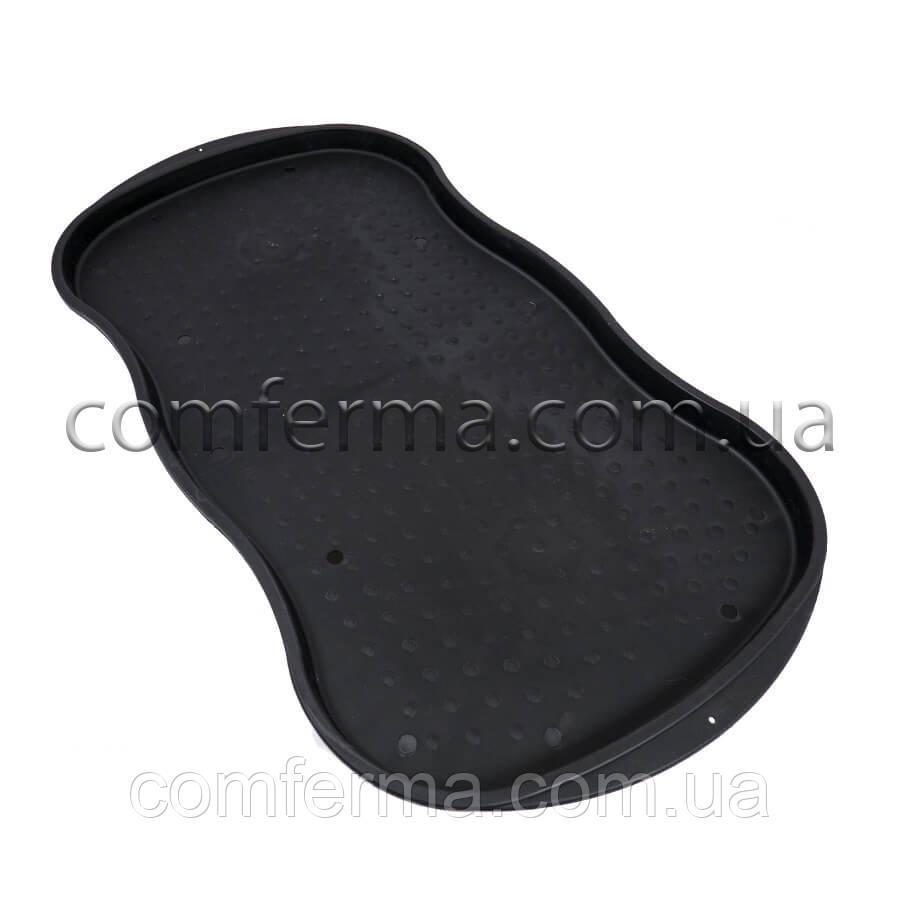 Пластикова підставка для взуття, горщиків, мисок для тварин 78х40 (чорна)
