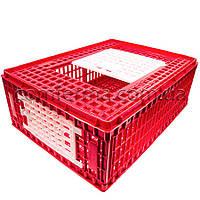 Маленький ящик для перевозки живой птицы с верхней и боковой дверцами 77х57х29, фото 1