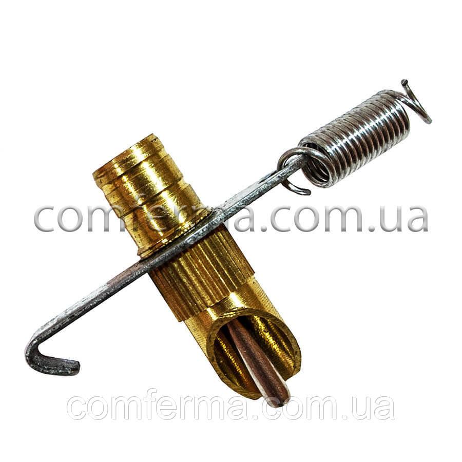 Ниппельная поилка для кроликов метал. латун.+нерж. крюк (8,5 мм)