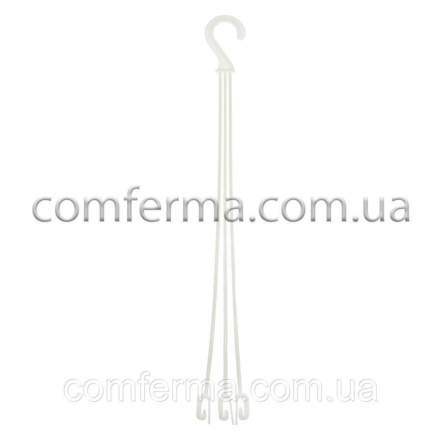 Підвіска для квіткового горщика, кашпо L-475 мм (біла)