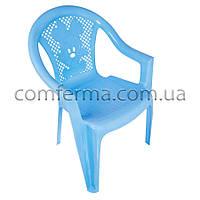 """Крісло дитяче пластикове """"Малютка"""" блакитне"""