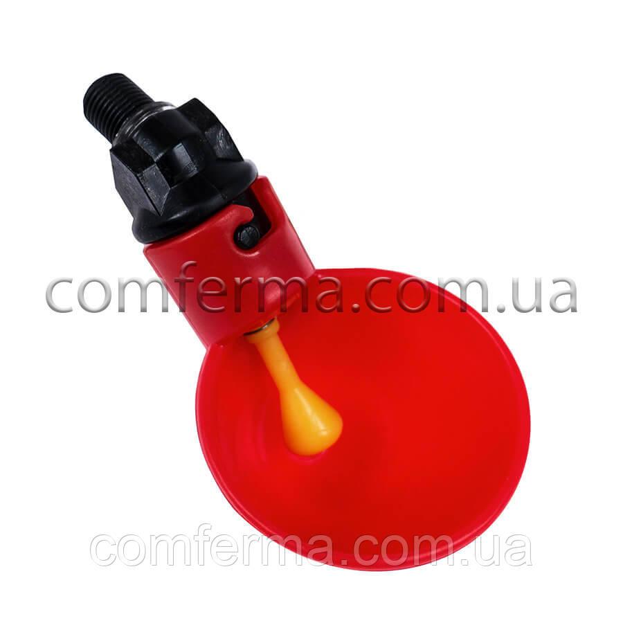 Микрочашечная поилка для птиц пластиковая