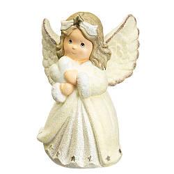 Статуетка Lefard Ангел з сердечком 40х29х18 см 002NQ