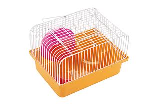 Клітка AnimAll Cube для хом'яка 23.2x17х12 см помаранчева