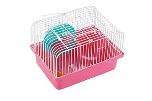 Клітка AnimAll Cube для хом'яка 23.2x17х12 см рожева