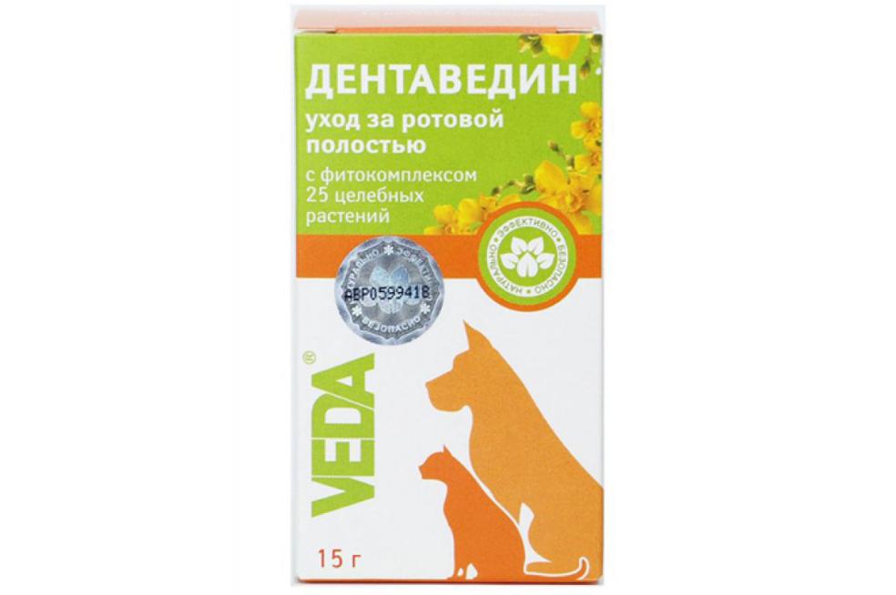 Гель стоматологічний Veda Dentavedin для усунення зубного каменю для собак і кішок 15 г