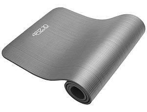 Коврик (мат) для йоги и фитнеса 4FIZJO NBR 1.5 см 4FJ0144 Grey, фото 2