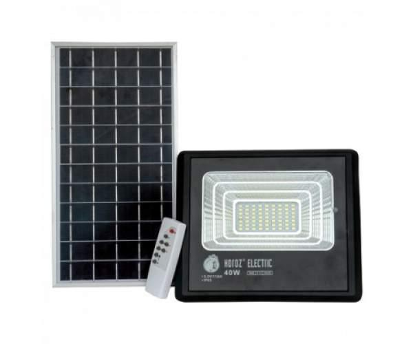 Светодиодный прожектор  на солнечной батарее TIGER-40 40W 6400K (Horoz Electric)