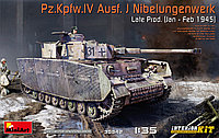 Pz. Kpfw. IV Ausf. J Nibelungenwerk Late. Сборная модель (с интерьером) танка в масштабе 1/35. MINIART 35342