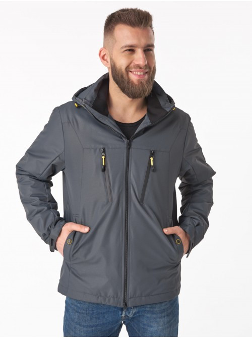 Мужская демисезонная куртка V-1 Серый