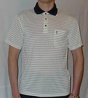 Шелковая бежевая рубашка поло