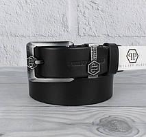 Ремень кожаный под джинсы черный 8208-401-1
