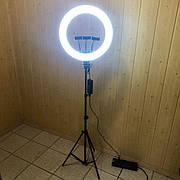 Кольцевая лампа 45 см со штативом на 2м лампа для селфи лампа для тик тока