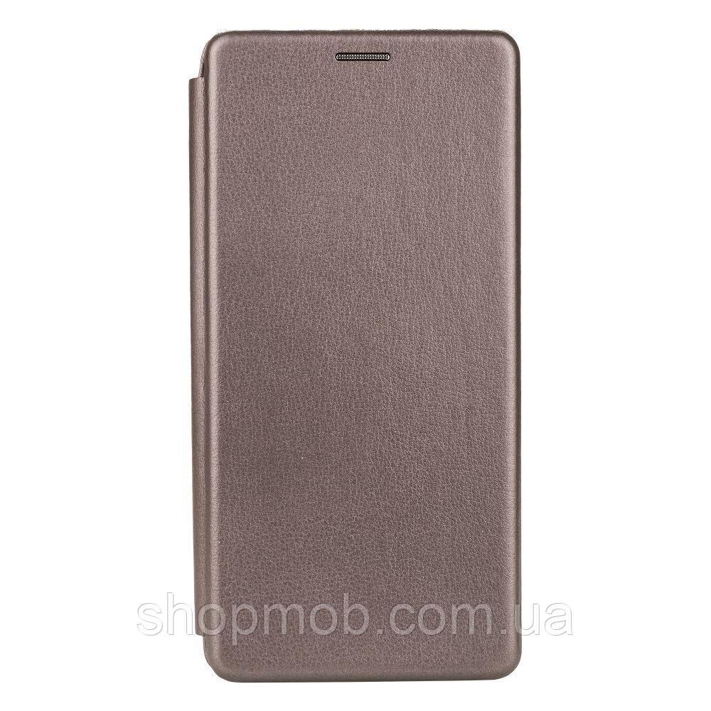 Чехол-книжка кожа Xiaomi MI 10T Цвет Серый