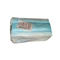 Китайские одноразовые маски с фильтром мельтблаун и фиксатором для носа в упаковке 50 шт.