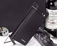Мужской клатч Baellerry, стильный бумажник, портмоне, кошелек, вертикальный, черный цвет, фото 1