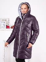Женская стильная зимняя куртка больших размеров (рр 50-62)