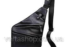 Мужская сумка Cross Body кожа (черный)