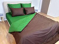Комплект постельного белья Сатин Дуэт однотонный сдо09 Евро, фото 1