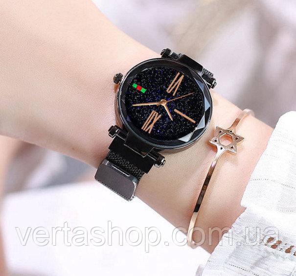 Женские наручные часы Starry Sky Watch на магнитной застёжке Черный