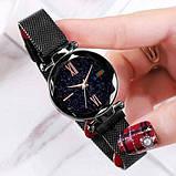 Женские наручные часы Starry Sky Watch на магнитной застёжке Черный, фото 2