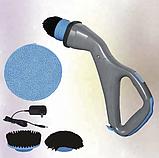 Беспроводная электрическая щетка для уборки Muskle Scrubber с 3-мя насадками, фото 2